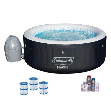 Image of Bestway SaluSpa Inflatable Hot Tub + Spa Bromine Kit + Filter Cartridge (3 Pack)