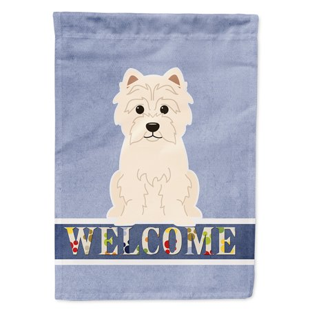 Westie Welcome Garden Flag