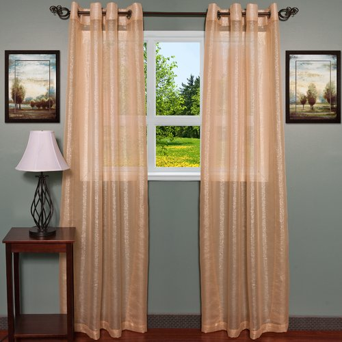 Sweet Home Collection Lynn Curtain Panels (Set of 2)