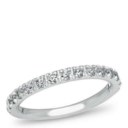 14K White Gold, Diamond Pave Band, 1/4 ctw.