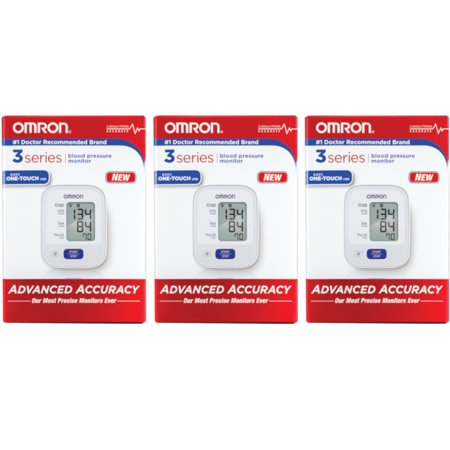 3 Pack OMRON 3 Series Upper Arm Automatic Blood Pressure Monitor OneTouch