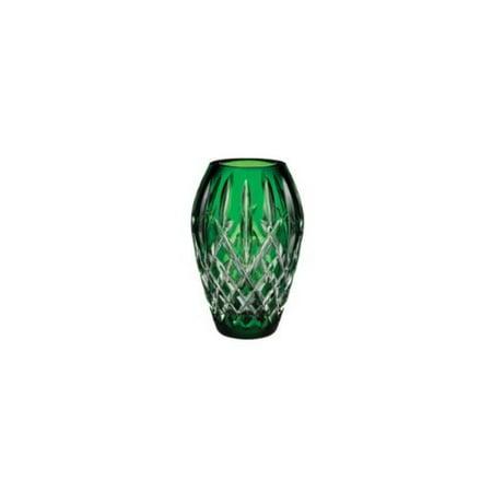 Waterford Jim Oleary Araglin Prestige Emerald Green Vase 7 Inch