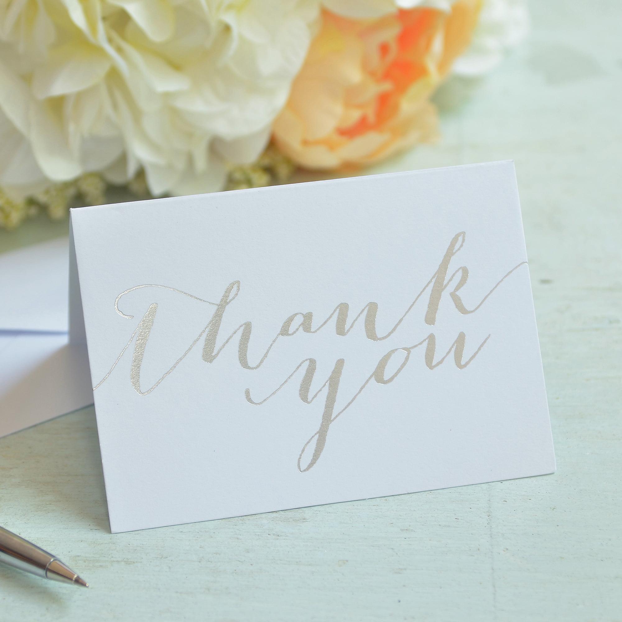 Gartner Studios Silver Thank You Card Walmart.com. Updated: ...