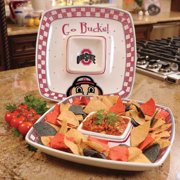 Ohio State Gameday Ceramic Chip and Dip Platter