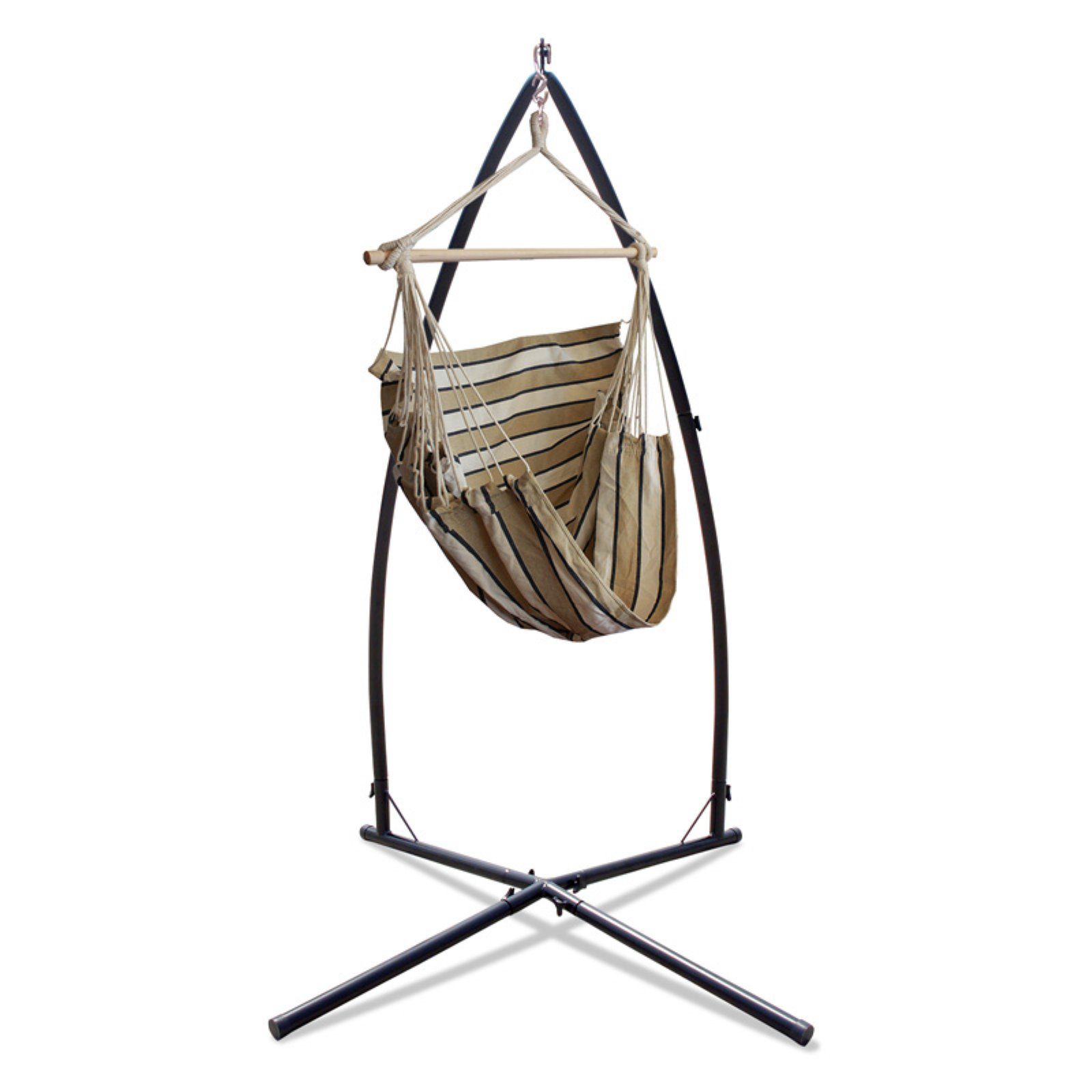 Hammaka Woven Fabric Hammock Chair with Summit Stand