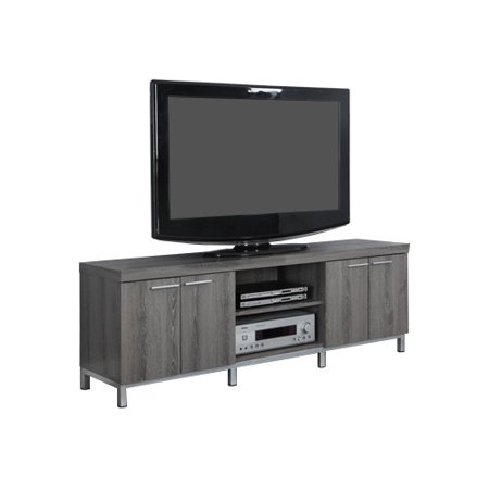 MONARCH – TV STAND – DARK TAUPE –  FOR TV'S UP TO 60″L