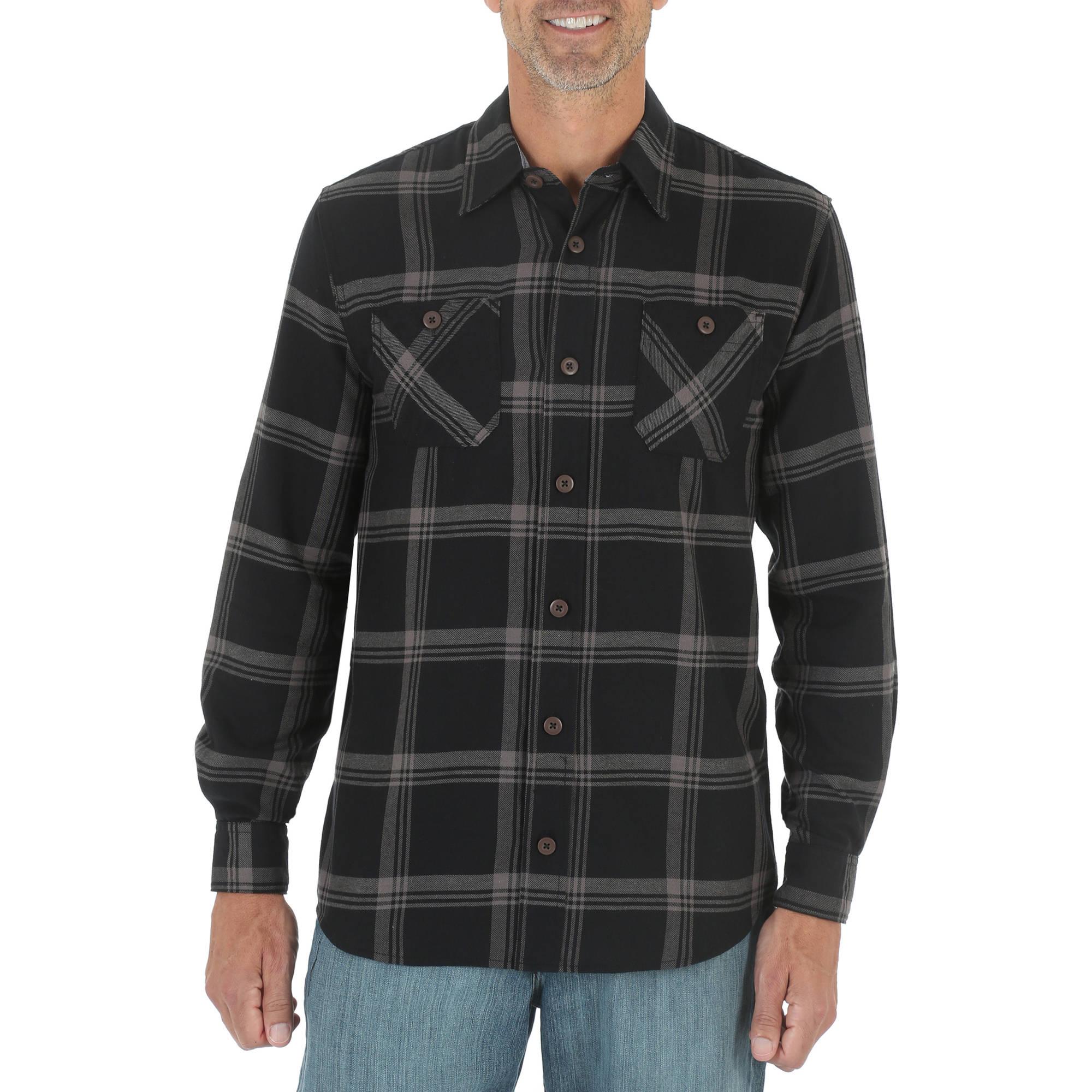 Wrangler Big Men's Long Sleeve Classic Flannel Shirt