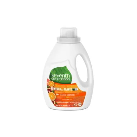 Seventh Generation Liquid Laundry Detergent, Fresh Citrus scent, 66 Loads, 100 oz (7th Generation Size 1)