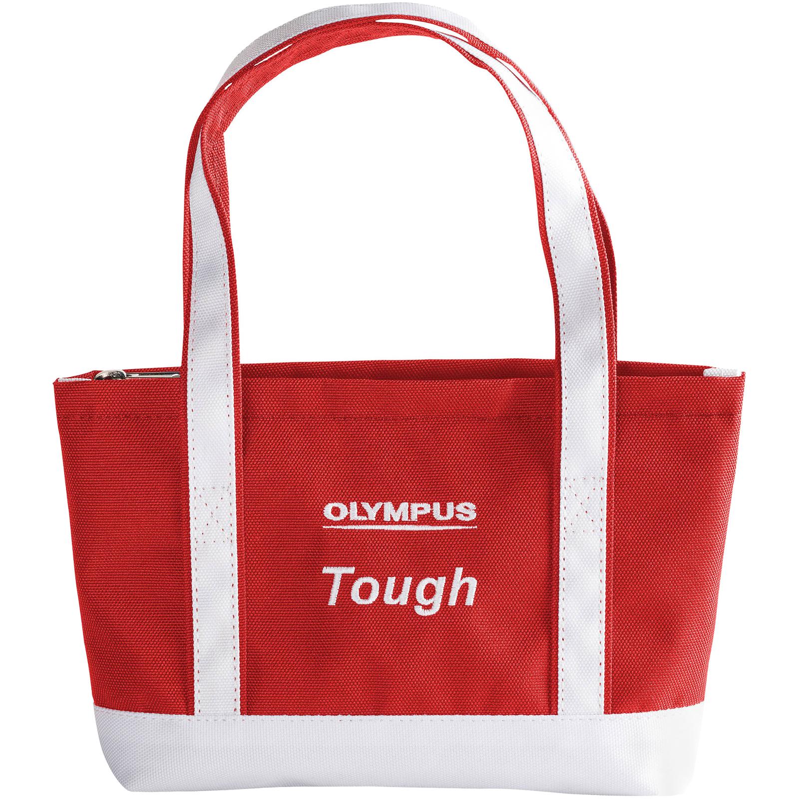 Olympus Mini Beach Bag Tough Digital Camera Case / Tote Bag (Red/White)
