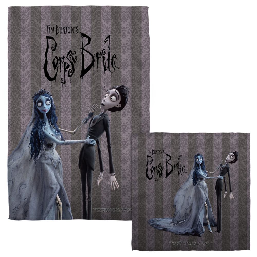 Corpse Bride Bride And Groom Face Hand Towel Combo White