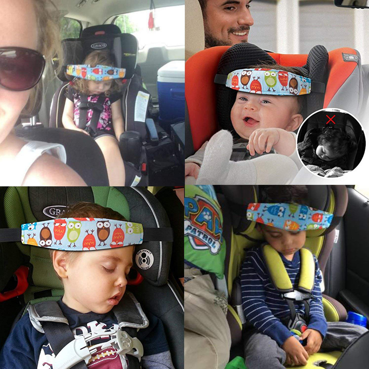 Adjustable Child Kids Safety Car Seat Travel Sleep Aid Head Strap Cute Popular