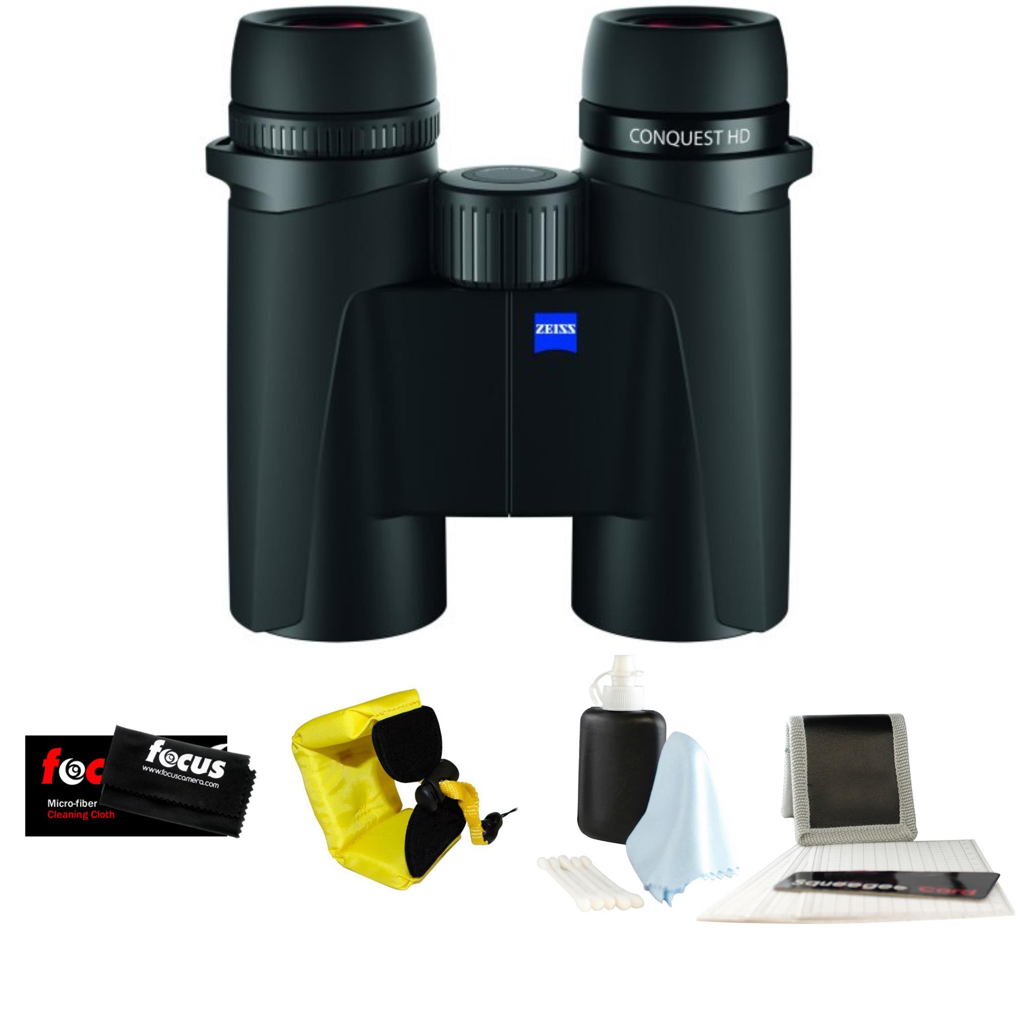 Zeiss 8x32 Conquest HD Binocular with Red Foam Strap & Cleaning Care Kit by Zeiss