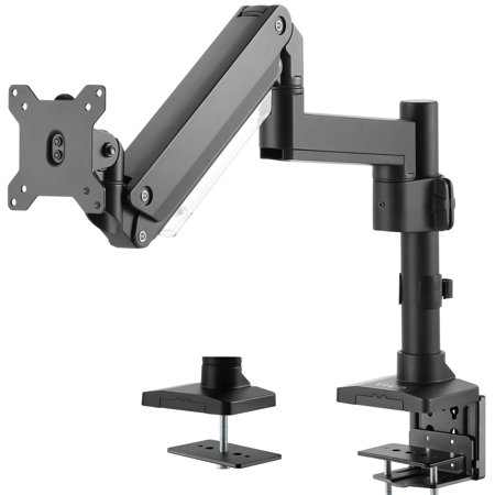 32' Single Arm (VIVO Premium Aluminum Single Screen Monitor Arm Desk Mount Stand with Extension Pole   Screens up to 32