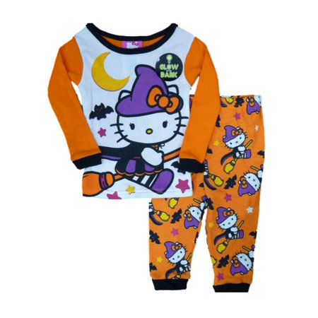 dec096237 Sanrio - Hello Kitty Witch Infant & Toddler Girls Orange Halloween Sleep  Set Pajamas Pjs - Walmart.com