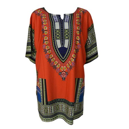 Women African Festival Dashiki Shirt Kaftan Boho Hippe Gypsy Festival Tops Party Dress Plus Size (Gypsy Dress Up Ideas)