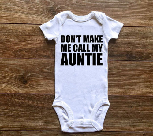 Rompers Bodysuit Casual Funny Cute Baby Cloth My Auntie Jumpsuits Toddler Kids