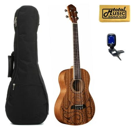oscar schmidt ou52tat baritone mahogany ukulele hawaiian tattoo bag pack. Black Bedroom Furniture Sets. Home Design Ideas