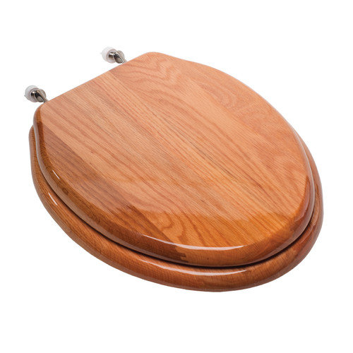 Comfort Seats Designer Solid Elongated Wood Toilet Seat
