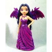 Fairy Girl Violet Angel in Long Dress with Wings Figurine Statue