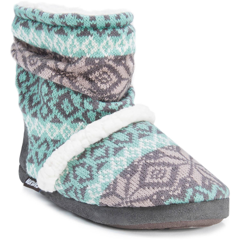 MUK LUKS Women's Knit Slouchy ... Bootie Slippers Yj16XHL