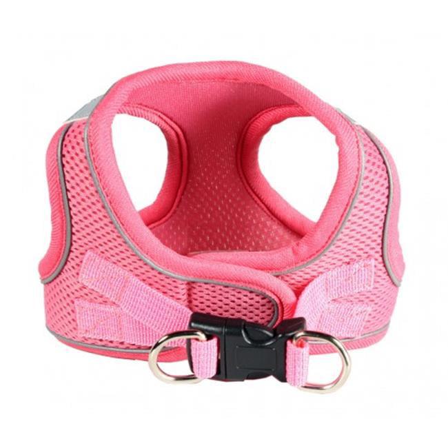 Hip Doggie HD-6EZMPK-L Large EZ Reflective Sports Mesh Harness - Pink