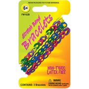 Stretch Band Bracelets 3/Pkg-Assorted Colors