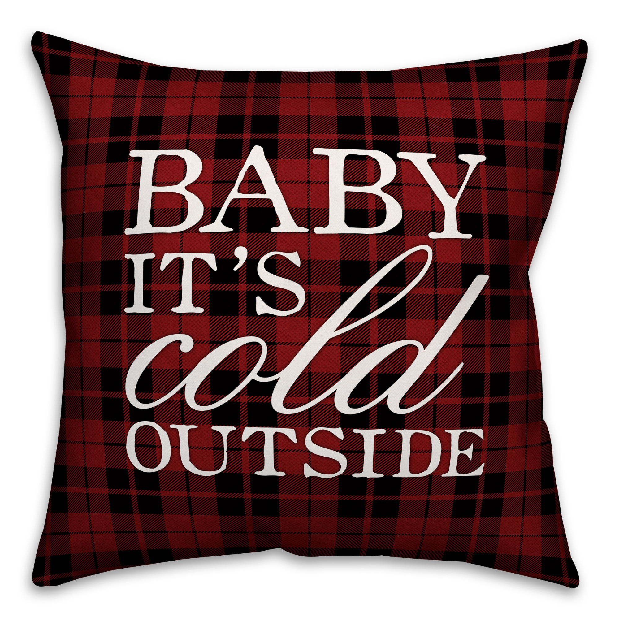 Baby It's Cold Outside 20x20 Spun Poly Pillow
