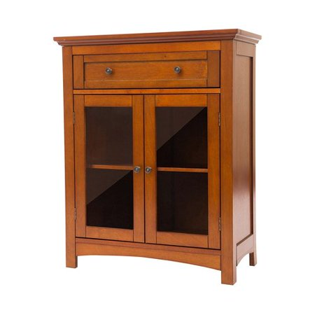 Glitzhome Wooden Shelved Floor 1 Drawer Accent Cabinet ()