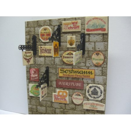 Reality In Scale 1 35 Business Signs On Real Wood   Diorama Accessory  35149