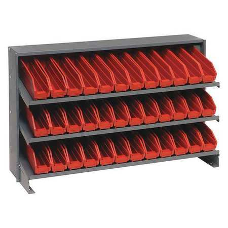 Sloped Shelving System,12 In. D,36 In. W QUANTUM STORAGE SYSTEMS QPRHA-100RD