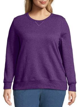 Just My Size Women's Plus Size Fleece Pullover Sweatshirt