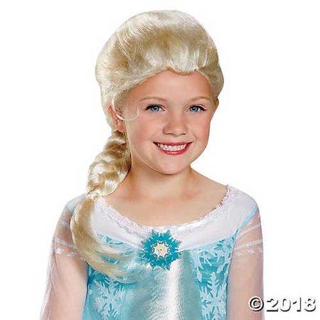 Girl's Disneyâ??s Frozen Elsa (Frozen's Elsa Girls Wig)