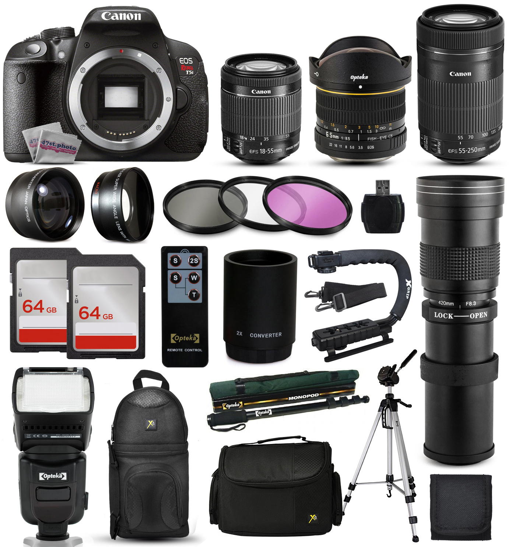Canon Rebel T5i DSLR Digital Camera + 18-55mm STM + 6.5mm...