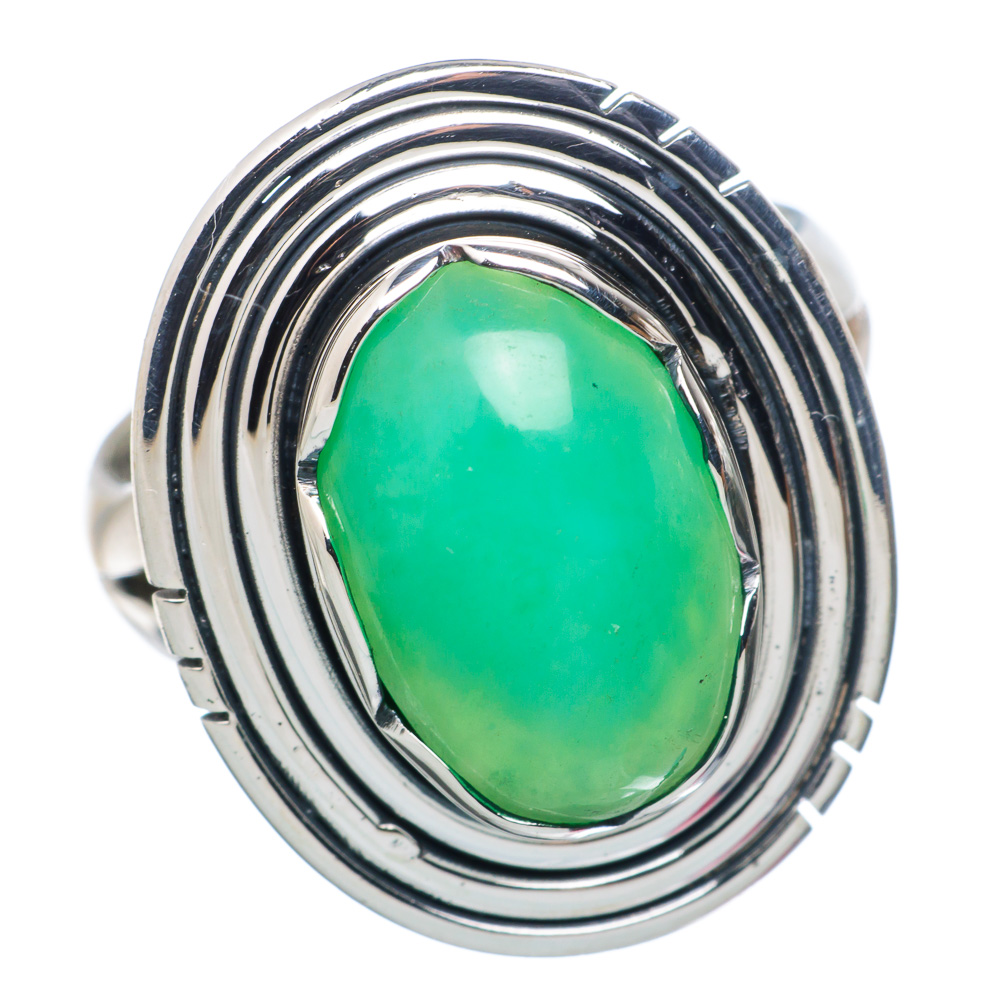 Ana Silver Co Chrysoprase Ring Size 6.5 (925 Sterling Silver) Handmade Jewelry RING883967 by Ana Silver Co.
