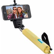 Knox Monopod Selfie Stick with Bluetooth Remote and Zoom Function - Yellow