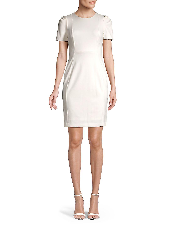 Petite Exposed Seams Sheath Dress