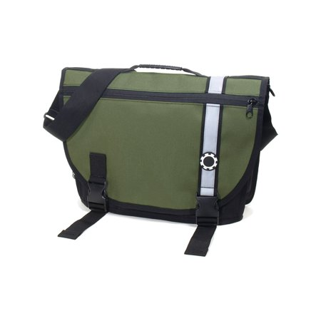 DadGear Courier Diaper Bag  - Green Retro Stripe ()