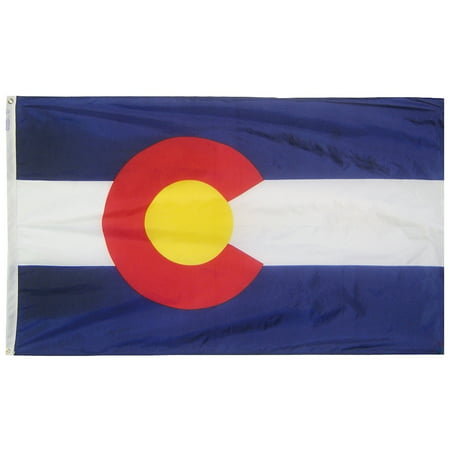 Colorado State Flag 3x5 ft. Nylon Official State Design (Colorado Flag Merchandise Flag)