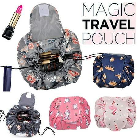 Toiletry Bag Lazy Makeup Bag Quick Pack Waterproof Travel Bag Drawstring Storage - image 1 de 5