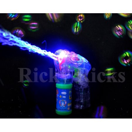 Light Up Bubble Gun Flashing Bubbles Blower Blaster Squirt Shooter Favors
