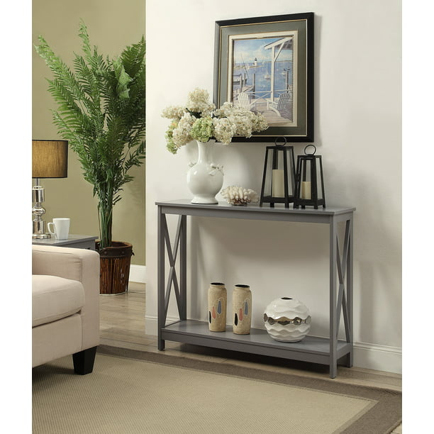 Convenience Concepts Oxford Console Table, Gray