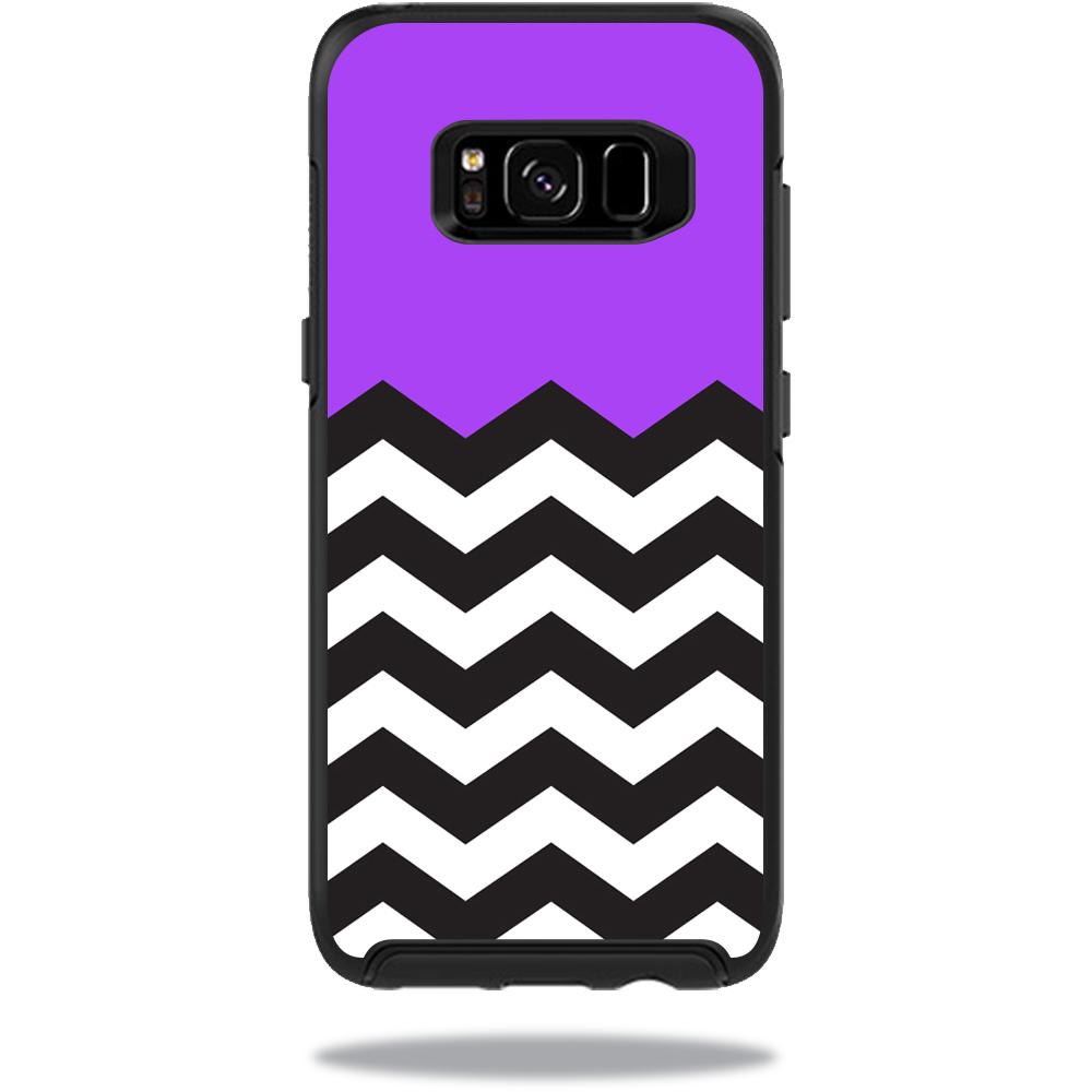 MightySkins Protective Vinyl Skin Decal for OtterBox SymmetrySamsung Galaxy S8 Case sticker wrap cover sticker skins Purple Chevron