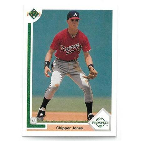 165356724f3 RDB Holdings   Consulting CTBL-20117-2 Chipper Jones 1991 Upper Deck Atlanta  Braves Baseball Top Prospect Rookie Trading Card No.55 - Set of 25 -  Walmart. ...