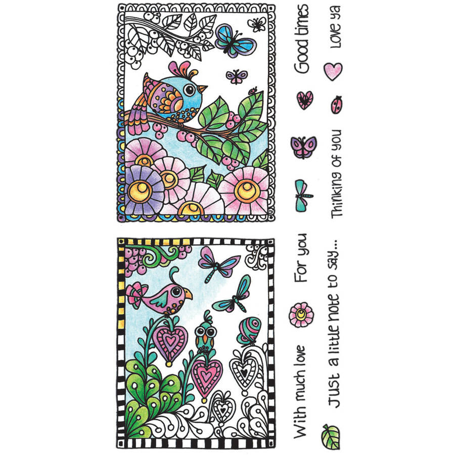 "Color Me Clear Stamps, 4"" x 7.75"", Love"