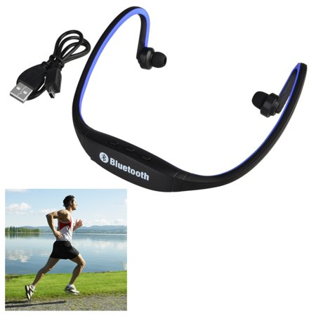 Insten Blue Wireless Bluetooth Sport Ear-Clip Headset Headphone with Mic for Apple iPhone 7 6 6s Plus 7+ 6+ SE 5 5s \/ Android Smartphone Cellphone Universal Running Jogging GYM Exercise Cycling Spoty