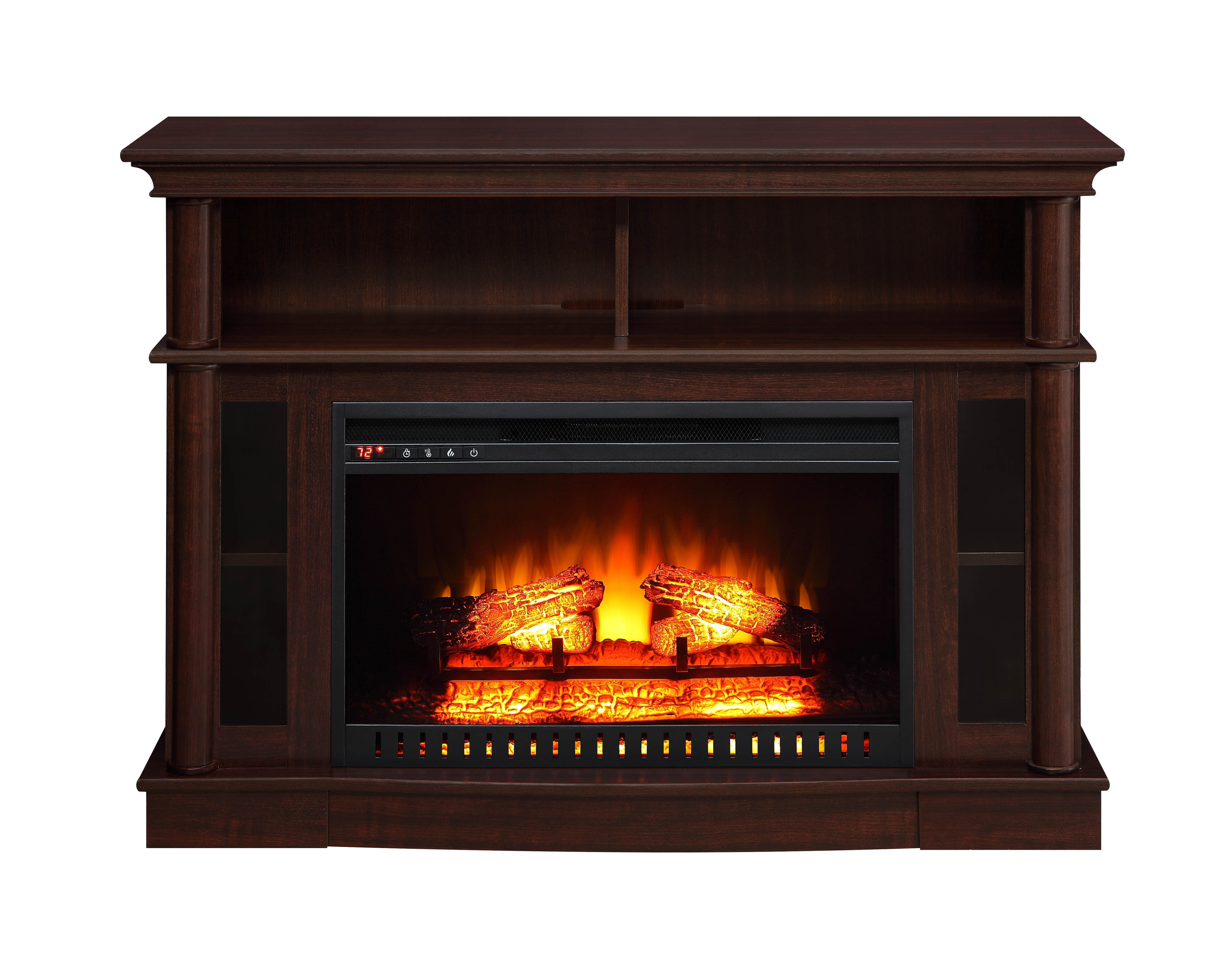 Better Homes And Gardens Electric Media Road Ashwood Fireplace For Tvs Up To 45