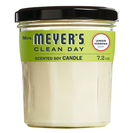 Mrs. Meyer's Clean Day Scented Soy Candle, Lemon Verbena Scent, 7.2 ounce candle ()