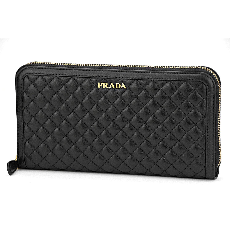 492710568c82 ... shopping 7898a 33a40; spain prada womens 1ml506 2ez5 soft calf quilt leather  wallet nero black 7a9bf 8dead
