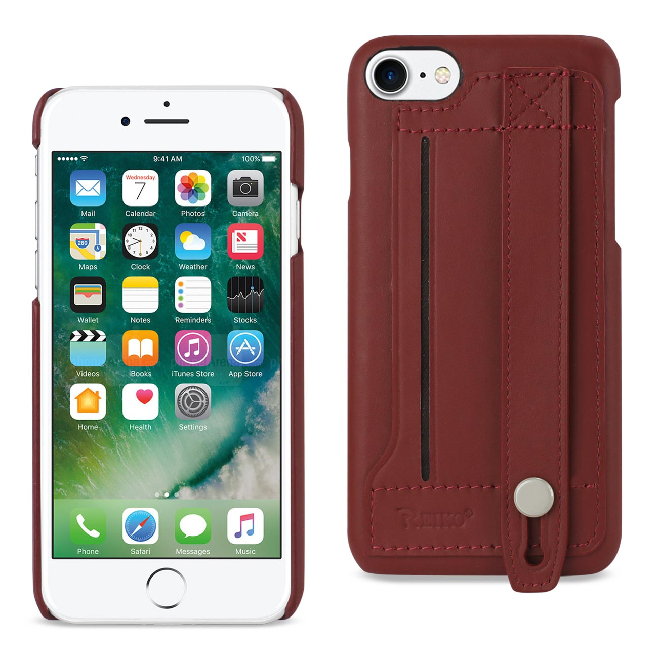 IPHONE 8 / IPHONE 7 GENUINE LEATHER HAND STRAP CASE