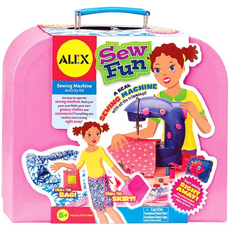 Alex toys sew fun sewing machine kit for Arts and crafts sewing machine